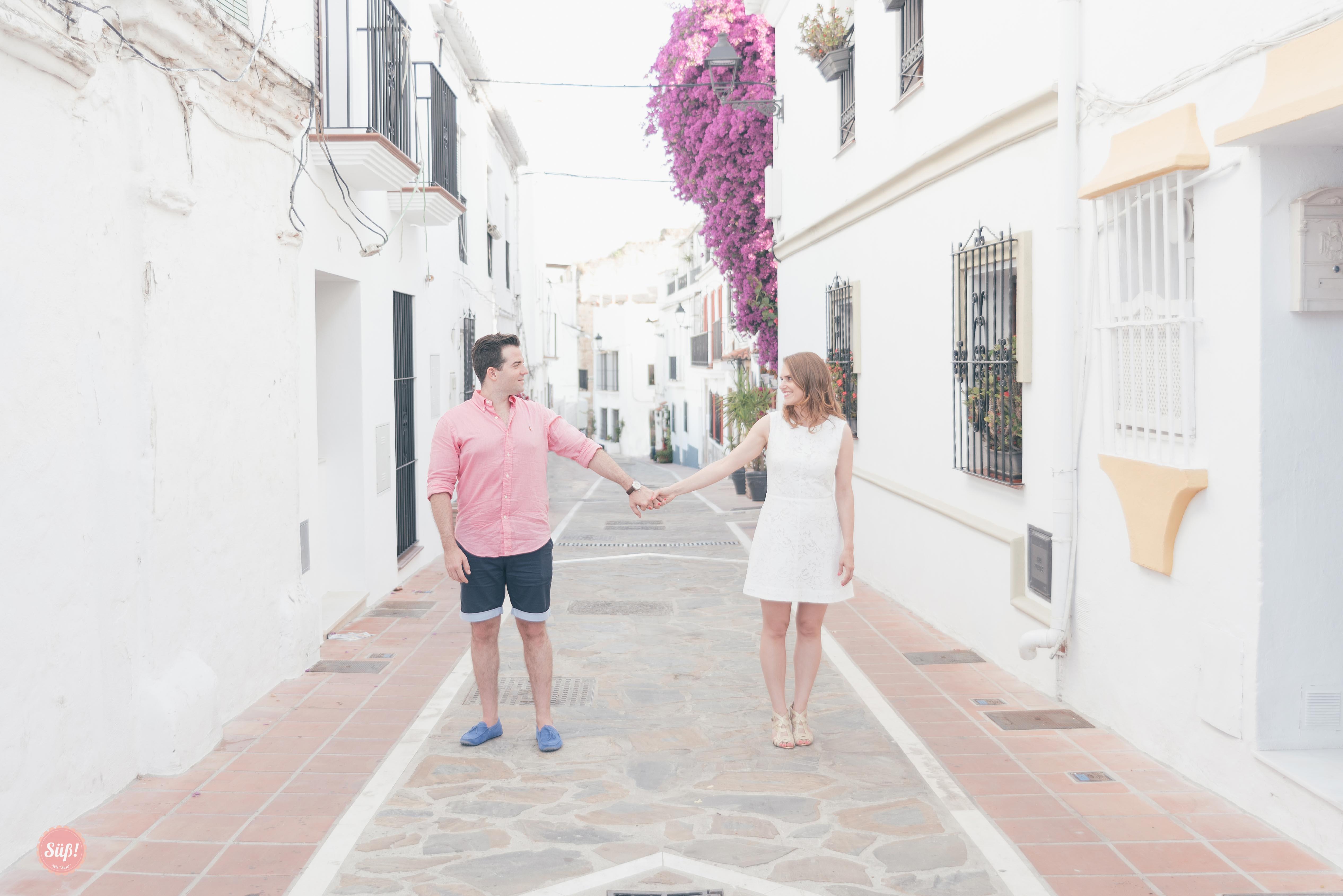 Lea & Cornelius. Una sesión Preboda muy divertida por Marbella